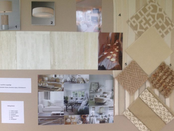 A moodboard created for a client
